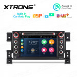 7 inch Android 10.0 Multimedia Car DVD Player Navigation System With Built-in CarAutoPlay and DSP For SUZUKI