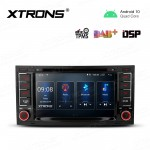 7 inch Navigation Multimedia Player with Built-in DSP Fit for Volkswagen