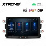 8 inch Android 10.0 Car Navigation Multimedia Player with Built-in DSP Custom Fit for Dacia & Renault