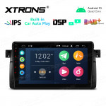 """9"""" IPS Screen 2GB RAM 32GB ROM Car GPS Navigation Multimedia Player with Built-in Wired CarAutoPlay and DSP Fit for BMW"""