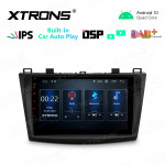 9 inch IPS Screen 2GB RAM 32GB ROM Car GPS Navigation Multimedia Player With Built-in CarAutoPlay and DSP Fit For Mazda