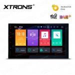 7 inch Android 8.0 Octa-Core 64bit 32GB+2GB RAM HD Digital Multi Touch Screen Car Stereo with Screen Mirroring Function & OBD2