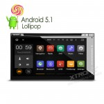 "6.95"" Android 5.1 Lolipop Quad Core 64-Bit Operating System Double Din Car DVD Player"