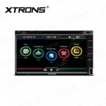 "6.95"" HD Capacitive Touch Screen Car GPS Double Din DVD Player"