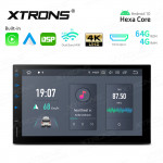 7 inch In-Dash Android Hexa Core 4G RAM+64GB ROM Car Navigation System with Built-in CarPlay and Android Auto and DSP with HD Output