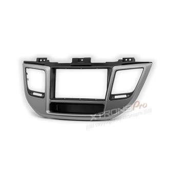Car Stereo Radio Double Din Fascia Panel Adapter for HYUNDAI Tucson 2015+ (Left wheel / with pocket)