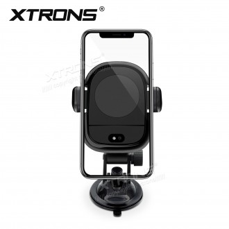 Universal car phone mount wireless fast-charge holder with infrared sensor