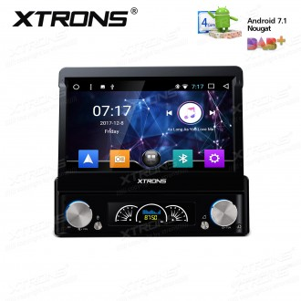 "7"" HD Digital Detachable Multi-touch Screen Android 7.1 Nougat 4K video Single Din Car DVD player with DAB+ & OBD02"