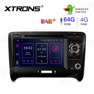 7 inch Android 9.0 Octa-Core 64G ROM + 4G RAM Plug & Play Design Car Stereo Multimedia GPS System for Audi