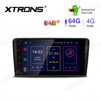 8 inch Android 9.0 Octa-Core 64G ROM + 4G RAM Plug & Play Design Car Stereo Multimedia GPS System for Audi