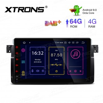 9 inch Android 9.0 Octa-Core 64G ROM + 4G RAM Plug & Play Design Car Stereo Multimedia GPS System Fit for BMW / Rover / MG