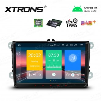 9 inch Android 10.0 Car Stereo Multimedia Navigation System Plug-and-Play Design Custom Fit for Volkswagen/Skoda/Seat