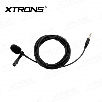 Noise-Resistant Clip-on Microphone with 2.95m Cable