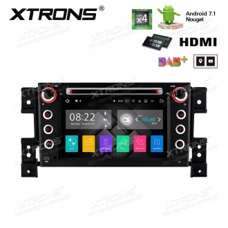 """7""""Android 7.1 Quad Core 16GB ROM + 2G RAM HD Digital Touch screen HDMI Car DVD Player Costom Fit for Suzuki"""