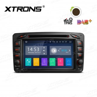 """7""""Android 8.1 Quad Core 16GB ROM + 2G RAM car stereo multimedia navigation system with Full RCA Output Costom Fit for Mercedes-Benz"""