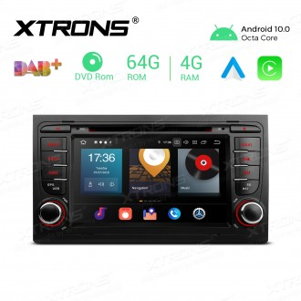 7 inch Android 10.0 Octa-Core 64G ROM + 4G RAM Car Multimedia GPS DVD Player Custom fit for Audi