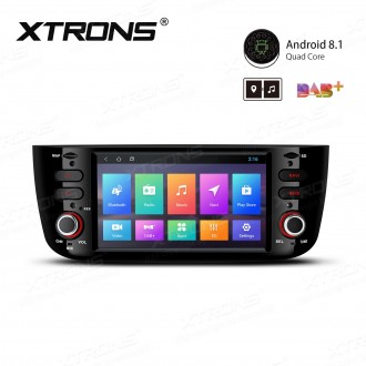 """6.2"""" Android 8.1 with Full RCA Output In-Dash GPS Navigation Multimedia System Custom Fit for Fiat"""