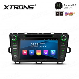 """8"""" Android 8.1 with Full RCA Output In-Dash GPS Navigation Multimedia System Custom Fit for Toyota Prius (Right Hand Drive)"""