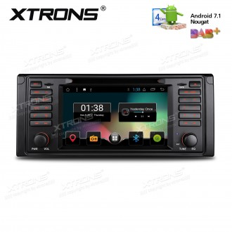 "7"" Android 7.1 Nougat Quad core 16GB ROM HD Digital Multi Touch Screen Car DVD Player Custom Fit for BMW 5 Series/ 7 Series"