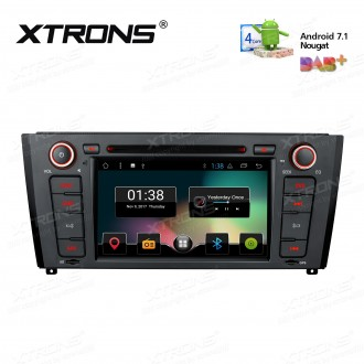 "7"" Android 7.1 Nougat Quad core 16GB ROM HD Digital Multi Touch Screen Car DVD Player Custom Fit for BMW"
