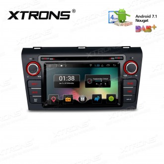 """7"""" Android 7.1 Nougat Quad core 16GB ROM HD Digital Multi Touch Screen Car DVD Player Custom Fit for Mazda 3"""