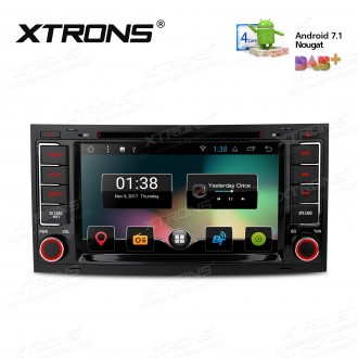 """7"""" Android 7.1 Nougat Quad core 16GB ROM HD Digital Multi Touch Screen Car DVD Player Custom Fit for Volkswagen"""