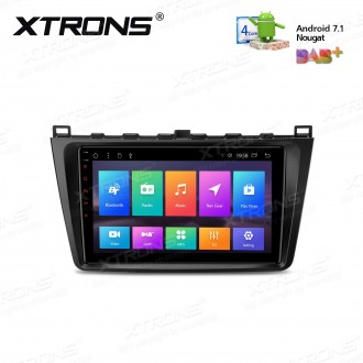 """9"""" Android 7.1 Multimedia System Car Stereo with Full RCA Output Custom Fit for MAZDA"""