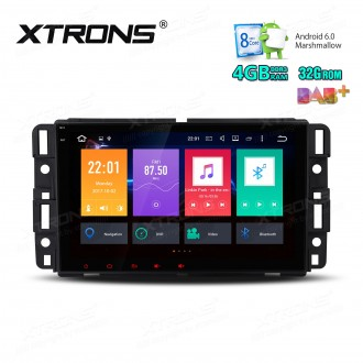 "8"" HD Digital Octa-Core 64bit DDR3 4GB RAM + 32GB ROM Android 6.0 Multi Touch Screen Car Stereo Custom Fit for Chevrolet/Buick/GMC/HUMMER"