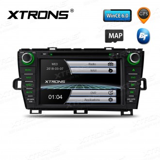 """8"""" HD Digital Touch Screen GPS Navigation Car DVD Player with Screen Mirroring Function Custom Fit for Toyota Prius (Left Hand Drive)"""