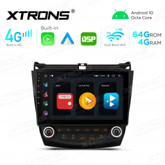 Integrated 4G Solution: 10.1 inch 8 Core DDR4 4GB RAM + 64GB ROM Android Multimedia Player Navigation System With Built-in CarPlay and Android Auto and DSP For HONDA