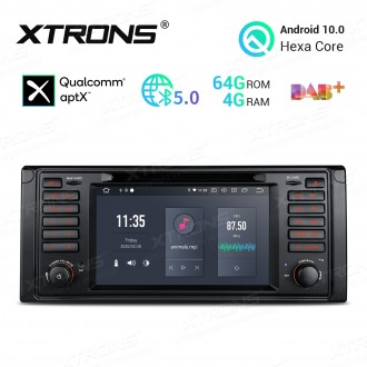 7 inch Android 10.0 Hexa Core 64GB ROM + 4GB RAM Car DVD Receiver Navigation System with HDMI Output Custom Fit for BMW