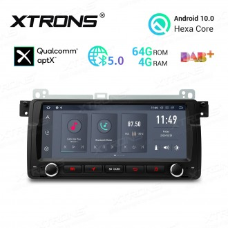 8.8 inch Android 10.0 Hexa Core 64GB ROM + 4GB RAM Car Multimedia Receiver GPS Navigation System with HDMI Output Custom Fit for BMW