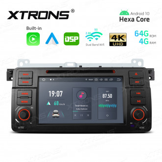 7 inch Android Hexa-Core 64bit Processor 4G RAM + 64GB ROM Car DVD Player Navigation System with Built-in Carplay and Android Auto and DSP Custom Fit for BMW/Rover/MG