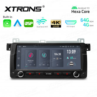8.8 inch Android Hexa-Core 64bit Processor 4G RAM + 64GB ROM Car Navigation System with HD Output with Built-in Carplay and Android Auto and DSP Custom Fit for BMW