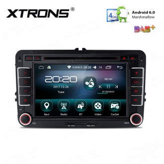 """7 """" HD Digital touch screen Android 6.0 Marshmallow Quad core 16G ROM Car DVD Player Custom Fit For Volkswagen / SEAT / SKODA"""