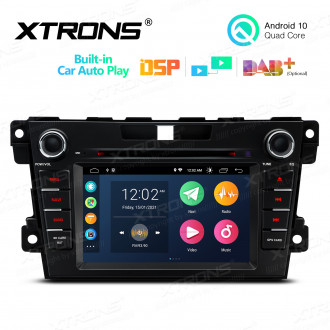 7 inch Multimedia Car DVD Player Navigation System With Built-in CarAutoPlay and DSP Fit for MAZDA
