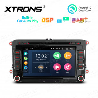 7 inch Multimedia Car DVD Player Navigation System With Built-in Wired CarAutoPlay and DSP for VW/SEAT/SKODA