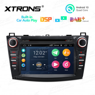 8 inch Android 10 Multimedia Car DVD Player Navigation System With Built-in CarAutoPlay and DSP Fit for Mazda