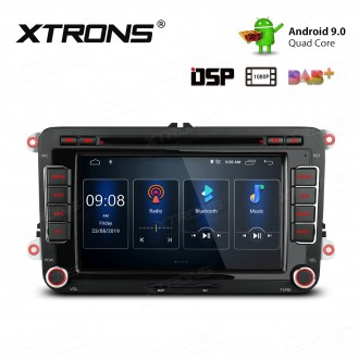 7 inch Android 9.0 HD Screen multifunctional Car Stereo with Full RCA Output&Built-in DSP Fit For VW / SEAT / SKODA