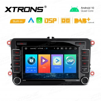 7 inch Android 10 GPS Multimedia Player with Built-in DSP Built-in CarAutoPlay & Android Auto Custom Fit for Volkswagen / SEAT / Skoda