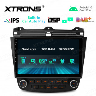 10.1 inch IPS Screen 2GB RAM 32GB ROM Car GPS Navigation Multimedia Player with Built-in CarAutoPlay and DSP Fit for HONDA Left Hand Drive Vehicles ONLY