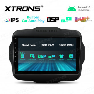 """9"""" IPS Screen 2GB RAM 32GB ROM Car GPS Navigation Multimedia Player With Built-in CarAutoPlay and DSP Fit for Jeep"""