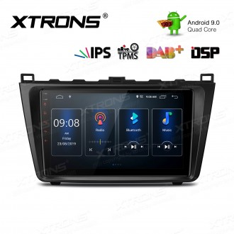 9 inch IPS Screen Android 9.0 Navigation Multimedia Player with Built-in DSP Fit for Mazda