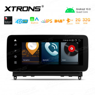 10.25 inch Android GPS Navigation Multimedia Player with Built-in CarPlay and Android Auto and 4G LTE Support Carriers in Asia and Europe for Mercedes-Benz C-Class W204