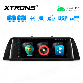 Integrated 4G Solution: 10.25 inch Octa-Core Android Car GPS Multimedia Player With Built-in CarAutoPlay and DSP For BMW 5 series F10 / F11 CCC