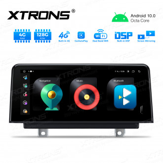 Integrated 4G Solution: 10.25 inch Octa-Core Android Car GPS Multimedia Player With Built-in CarAutoPlay and DSP For BMW 3/4 series NBT