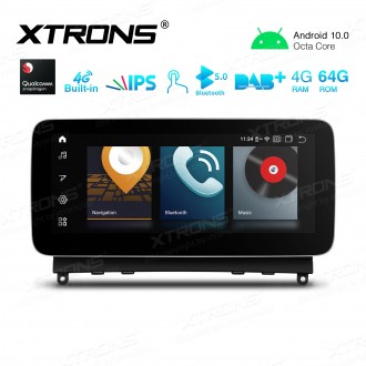 10.25 inch Car Android Multimedia Navigation System with Built-in 4G Support Carriers in Asia and Europe for Mercedes-Benz C-Class W204 (2007-2010)