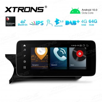 10.25 inch Car Android Multimedia Navigation System with Built-in 4G Support Carriers in Asia and Europe for Mercedes-Benz C-Class W204 (2011-2014) LHD Vehicles