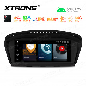 8.8 inch Car Android Multimedia Navigation System with Built-in CarAutoPlay and Android Auto, Built-in 4G (Support Local Carriers in Asia and Europe Area ONLY) for BMW 3 Series E90/5 Series E60 CCC