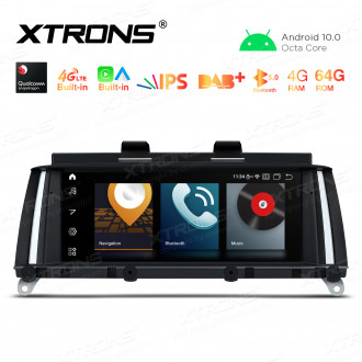 8.8 inch Car Android Multimedia Navigation System with Built-in CarAutoPlay and Android Auto, Built-in 4G (Support Local Carriers in Asia and Europe Area ONLY) for BMW X3 F25 CIC